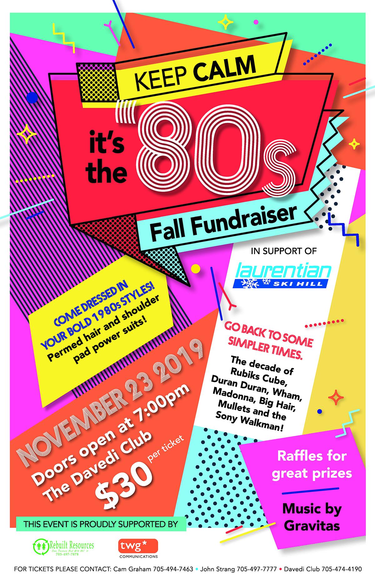 80's fundraiser